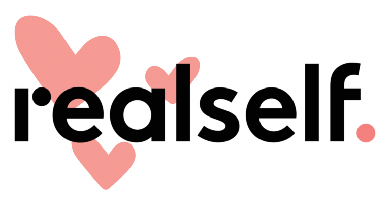 RealSelf Logo for reviews with hearts